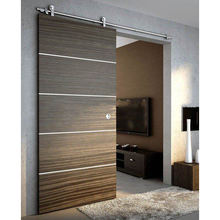 DIY American style modern interior design custom sliding insulated barn door teak wood door