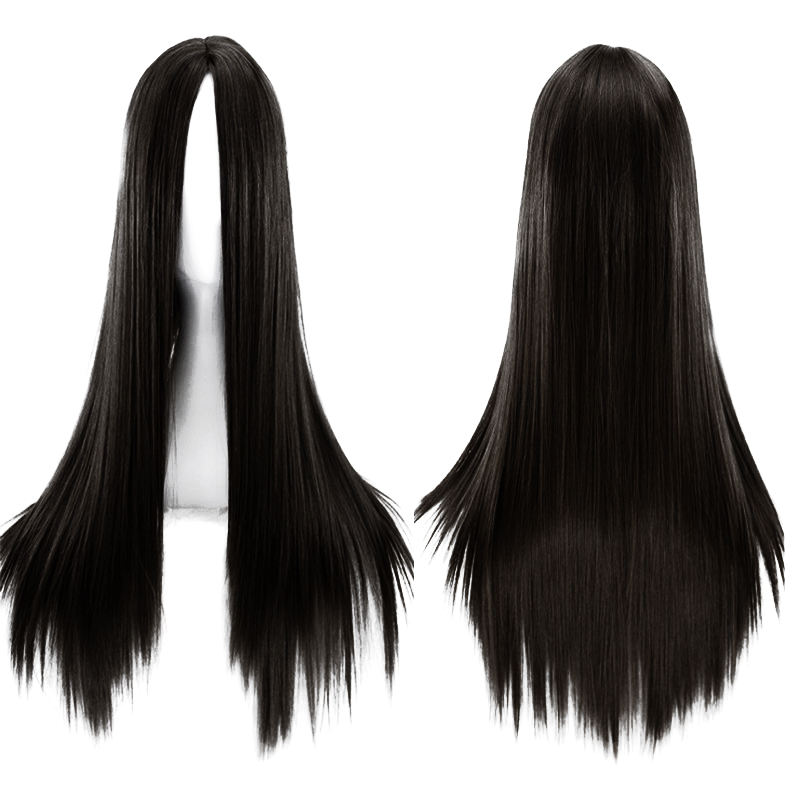 Wanmei European and American long straight hair whole sale African wig chemical fiber headgear