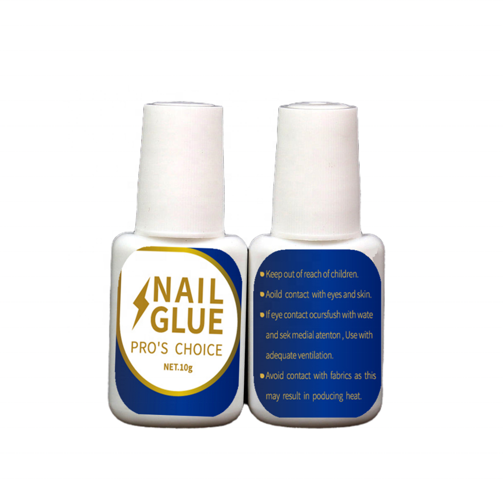 OEM Nail glue in bottle or in bulk packing, clear or pink color fast and strong instant bonds