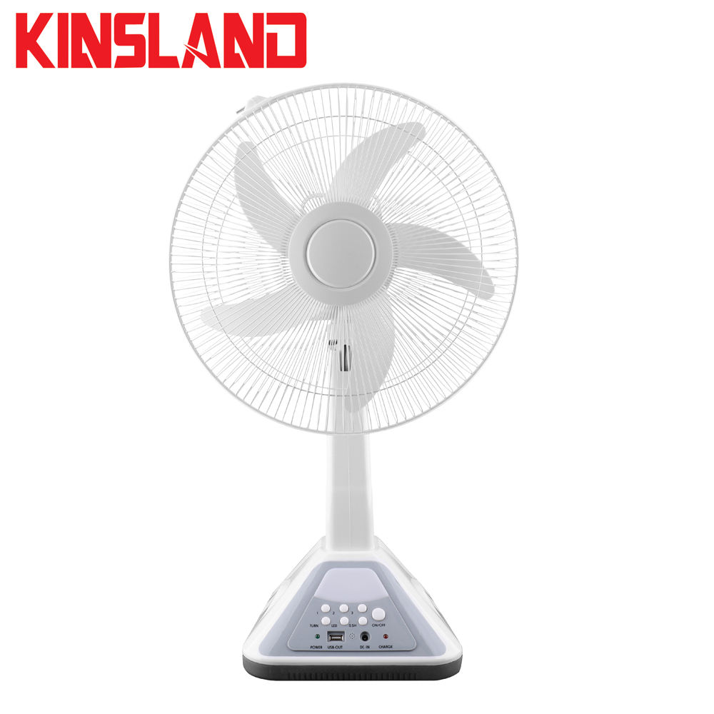 Good Quality 16 inches 30W 12 Volt Rechargeable table fan with LED light