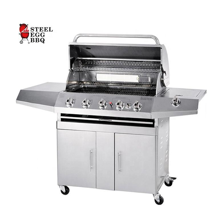 Seb/Staal Ei Bbq Groothandel Rookloze Barbecue Rvs Outdoor Bbq Gas Grill Brander Churrasqueira Inox Grill De Gas