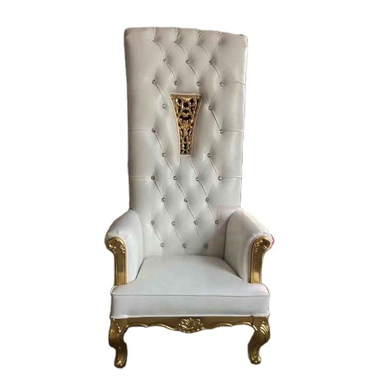 Factory custom kinds of wooden king throne high back sofa chair for general use