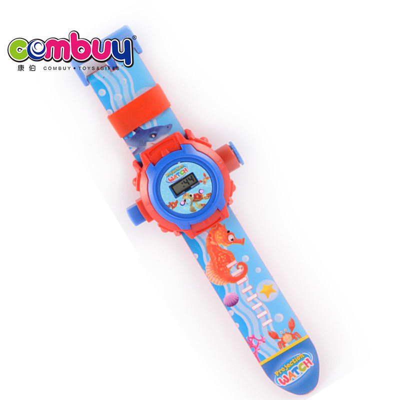 New style educational toy plastic projection kids wrist game watch