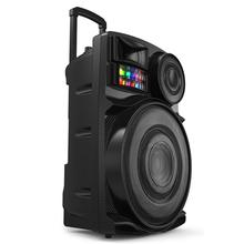 JIEPAK Portable Audio15 inch Player private mould factor speaker led stage lights trolley speaker for usb player with pull rod