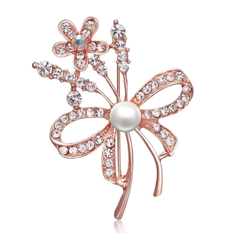SENFAI Wedding Bridal Brooch Pin Crystal Rhinestone Large Snowflake Winter Snow Theme Silver