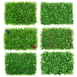 Wholesale simulation plant wall lawn Milan fake green plant background wall decoration plastic artificial grass wall