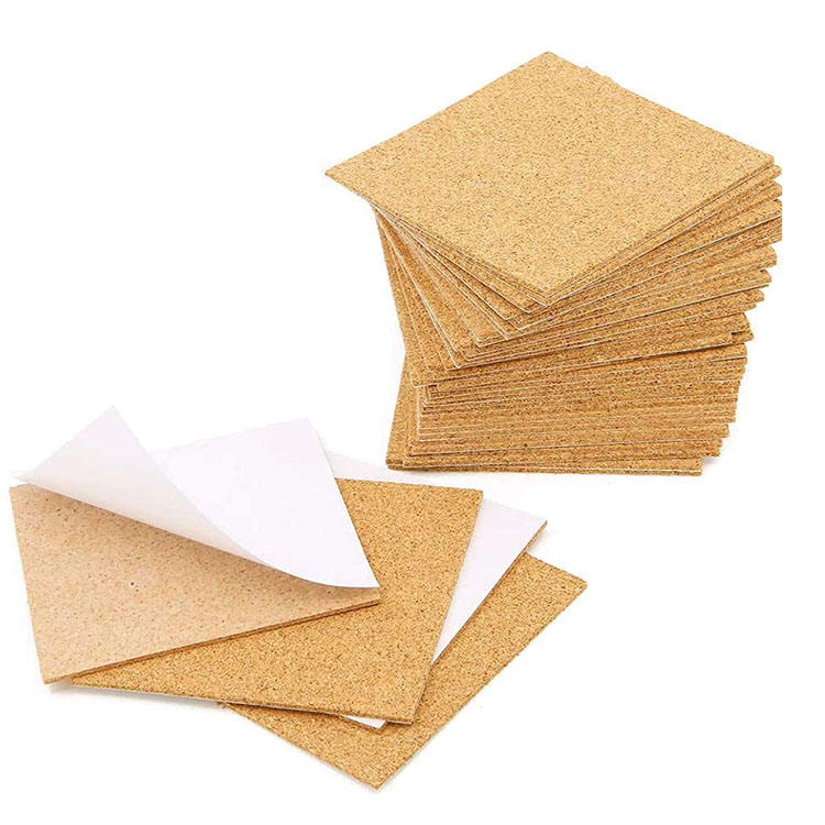 Square Wall Adhesive Cork Sheet Tiles For Cheap Price Sale