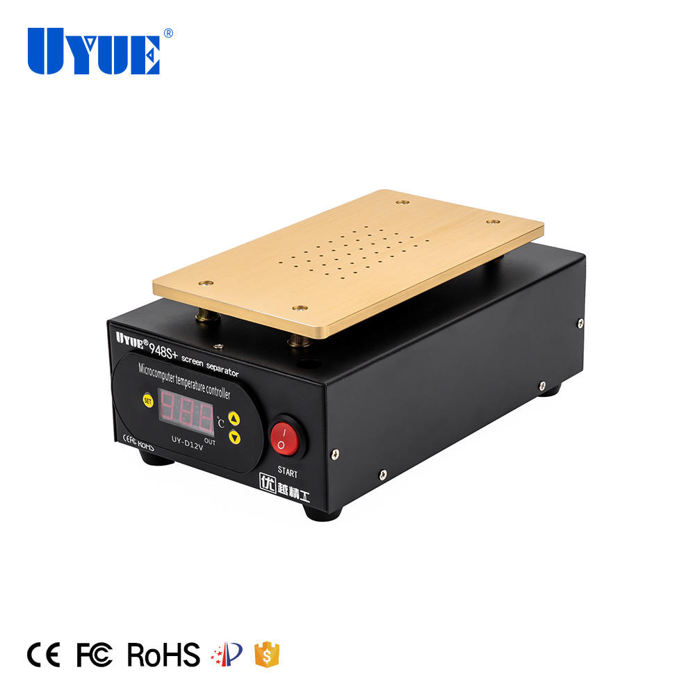 UYUE 948S+ 7 Inch Built-in Vacuum Pump LCD Digitizer Touch Screen Glass Separator for iPhone