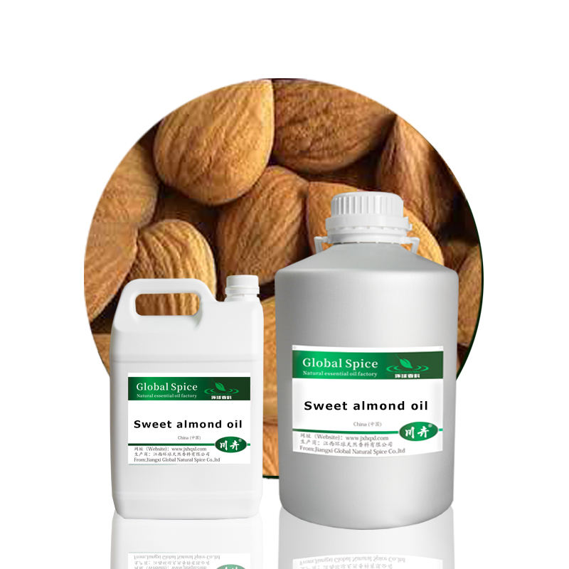Pure natural sweet almond oil,cosmetic carrier oil,CAS 8007-69-0