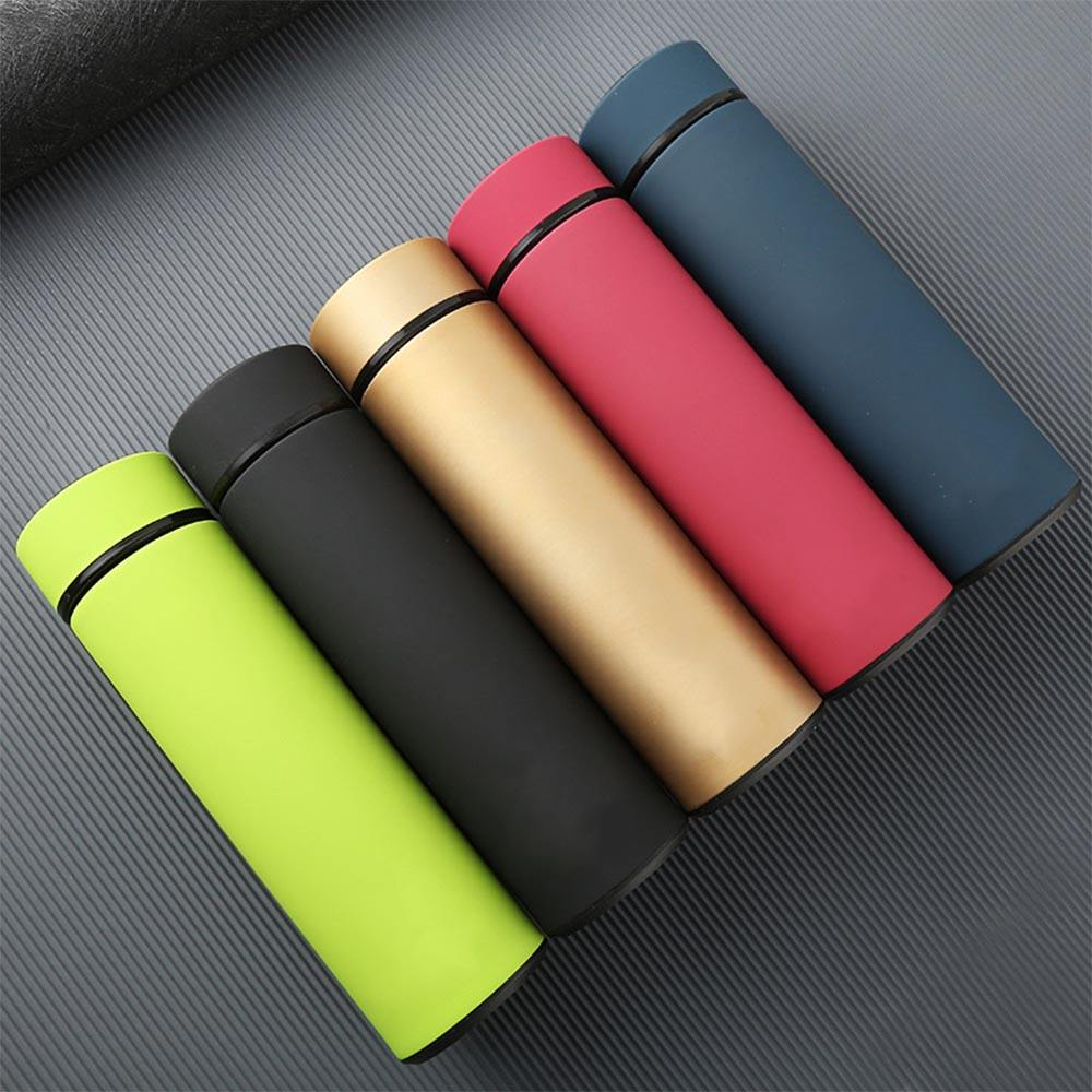 2021 Logo custom wholesale 500ml double wall coffee travel water bottle stainless steel vacuum flask thermo with tea filter