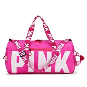 Promising 2020 Custom Fashion women girl Outdoor Activities travel bags luggage sport pink tote beach pink duffle bag