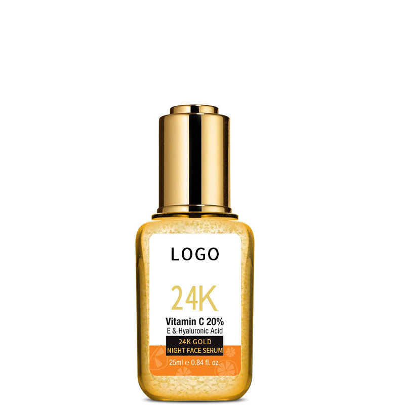 Korea Professional Skincare 25ML Moisturizing Vitamin C & Hyaluronic Acid 24 K Gold Night Serum