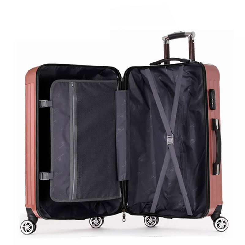 2020 New Fashion Wholesale ABS Wheeled Suitcase Travelling Bags Luggage Online Hard Case Trolley Bag