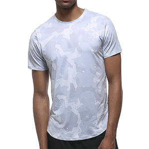 New Quick Dry Camouflage Color Compression Running Gym Fitness Men T Shirts