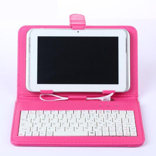 Colorful Flip Tipe Universal Smartphone Cover Pelindung 10.1 Keyboard Tablet Case