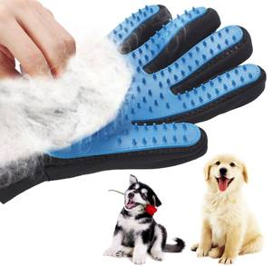 Pet Glove Cat Grooming Glove Cat Hair Deshedding Brush Gloves Dog Comb for Bath Clean Massage Hair Remover Brush