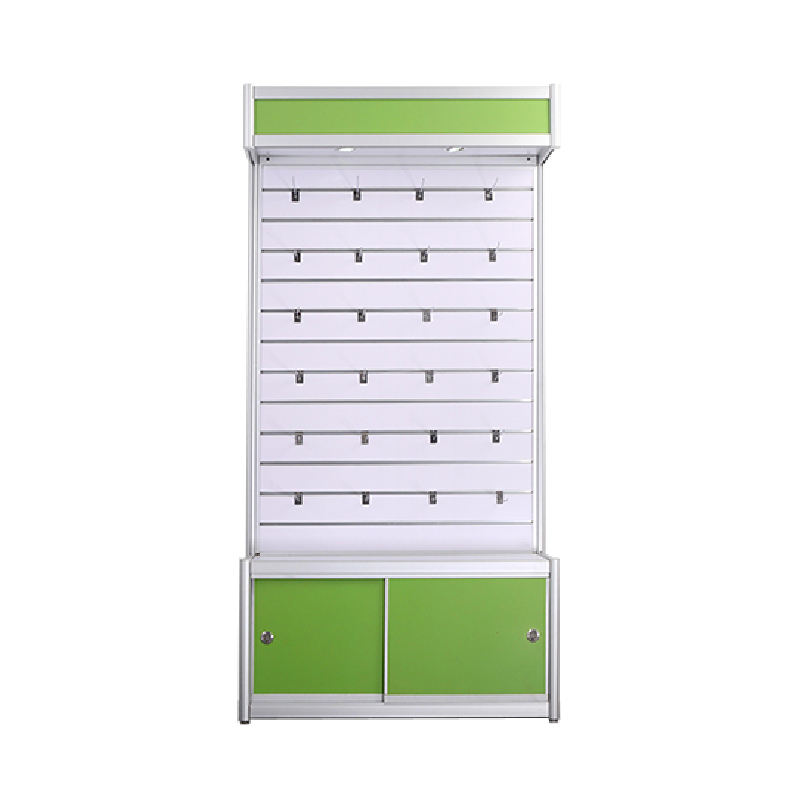 Modern Mobile Retail Store Slatwall Showcase / Mobile Phone Accessories Slatwall Display Cabinet