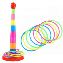 1 Set Hoop Ring Toss Plastic Ring Throwing Ferrule Funny Kids Outdoor Sport Toys For Children Gift