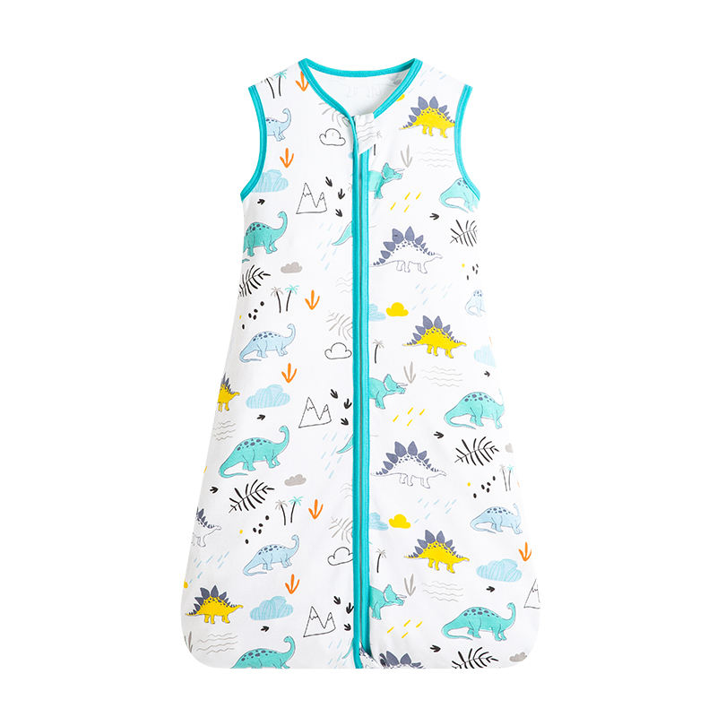 High quality super soft one-piece newborn pajamas 100% cotton baby vest sleeping bag