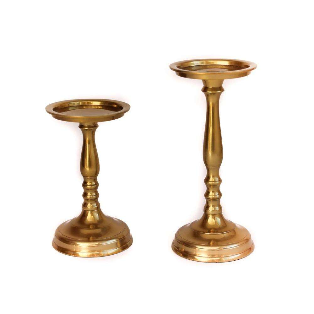 CNC precision turning machining polished metal brass antique pillar candle holder for welding