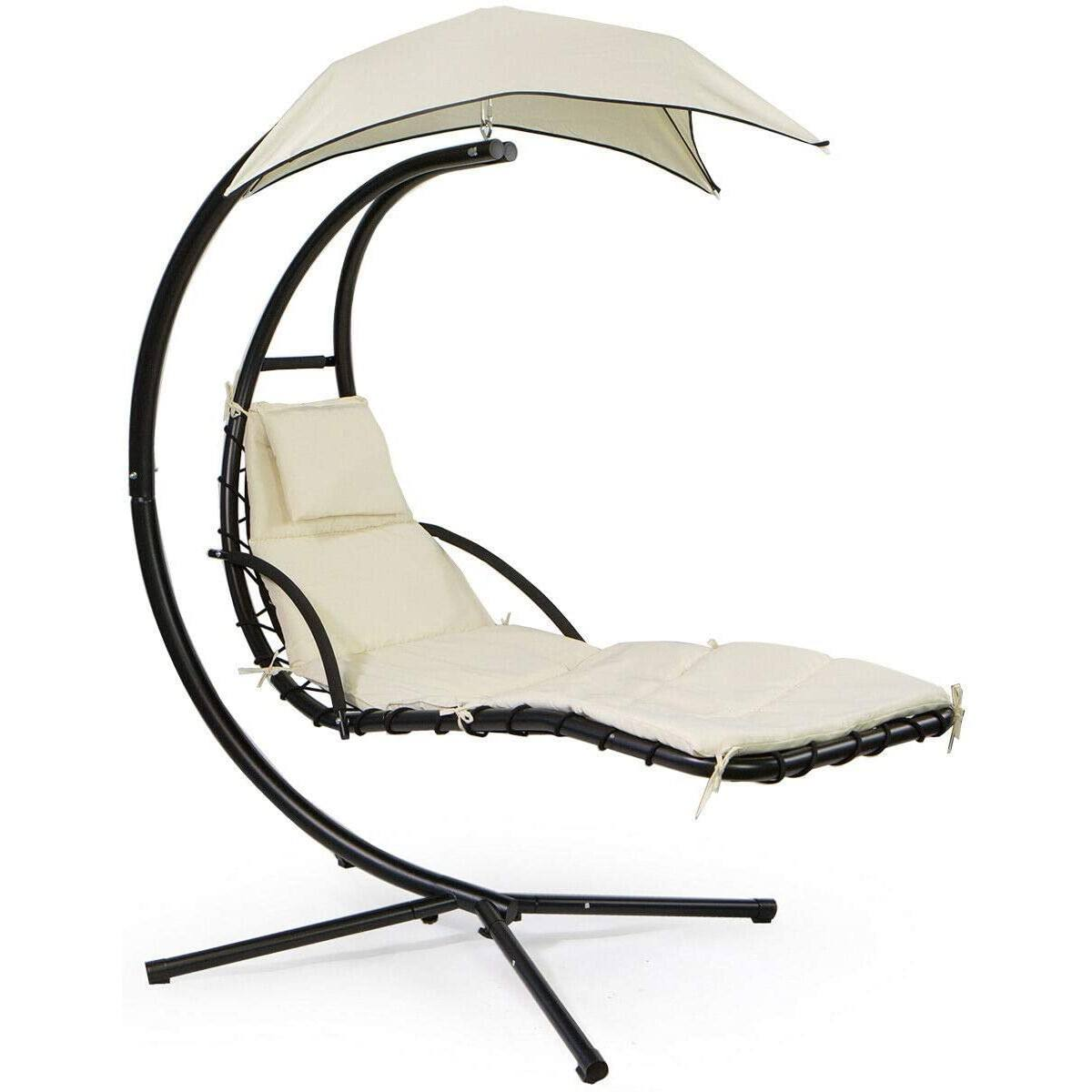 Outdoor Hanging Helicopter Dream Lounger Chair Patio Swings Hammock Chair Canopy Umbrella Sun Lounger