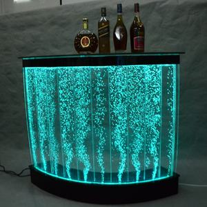 home Looking led acrylic bubble water modern bar counter