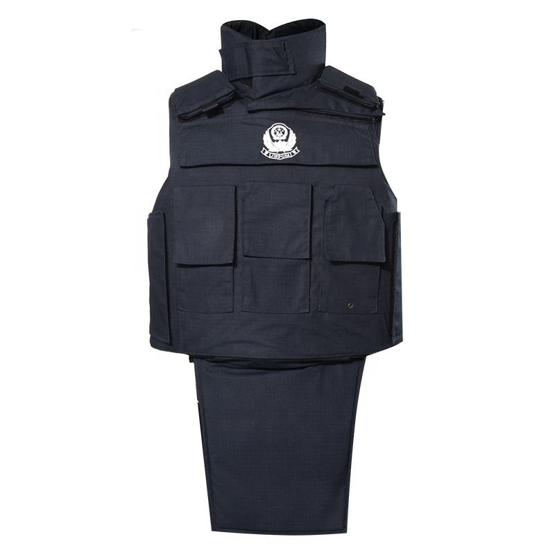 XINXING Navy Blue Ballistic Vest Aramid Military Bulletproof Vest with Neck and Groin Protection BV28