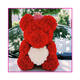 Tianjin Lusia artificial rose teddy bear 25 cm with box bear roses