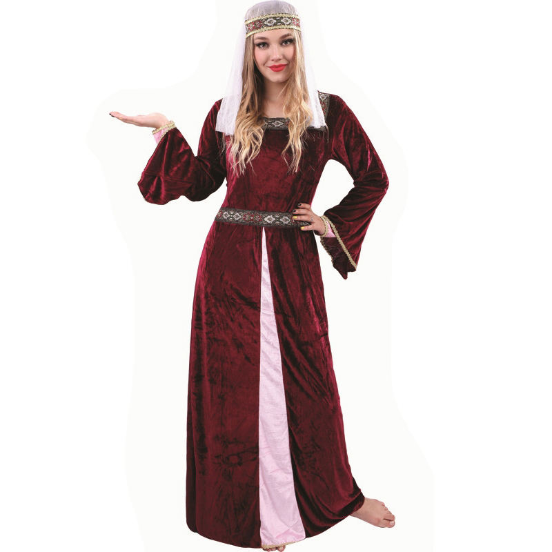 Carnival Masquerade Party Medieval Renaissance Dress For Beautiful Women Charming Medieval Dress For Lady