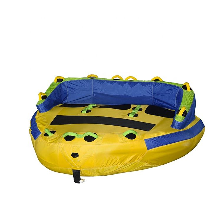 OEM Custom Design 3 Persoon Comfortabele Rugleuning <span class=keywords><strong>Water</strong></span> Sport Flying Towables <span class=keywords><strong>Opblaasbare</strong></span> Getrokken Ski Buis