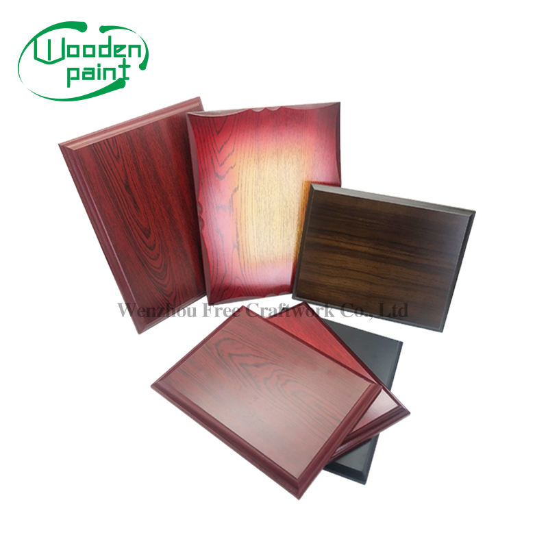 Wholesale Wood Medal Award Blank Plaques Customized Red MDF Wooden Plaque Medal keepsake Storage Boxes