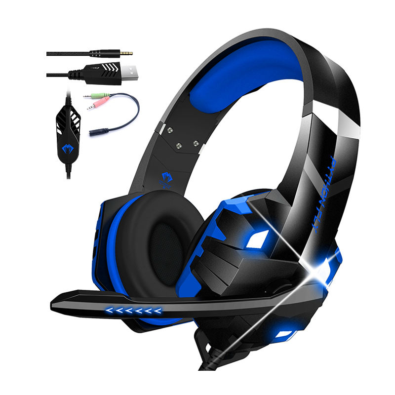 Audifonos Gamer Free Sample Earphones Stereo Headphone Noise Cancelling Headset Audifono Con Microfono Auriculares Audifonos Gamer For PS4 PC