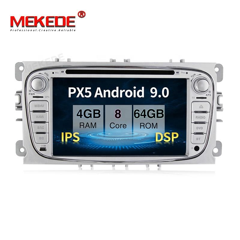 "7"" 2DIN ISP DSP Android 9. 0 Car DVD Player for Ford Focus 2 S-MAX Mondeo C-MAX Galaxy support Radio Navigation RDS BT WiFi"