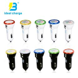 Customized Logo Car Charger 2.1a 3.1a with Multi LED Light C