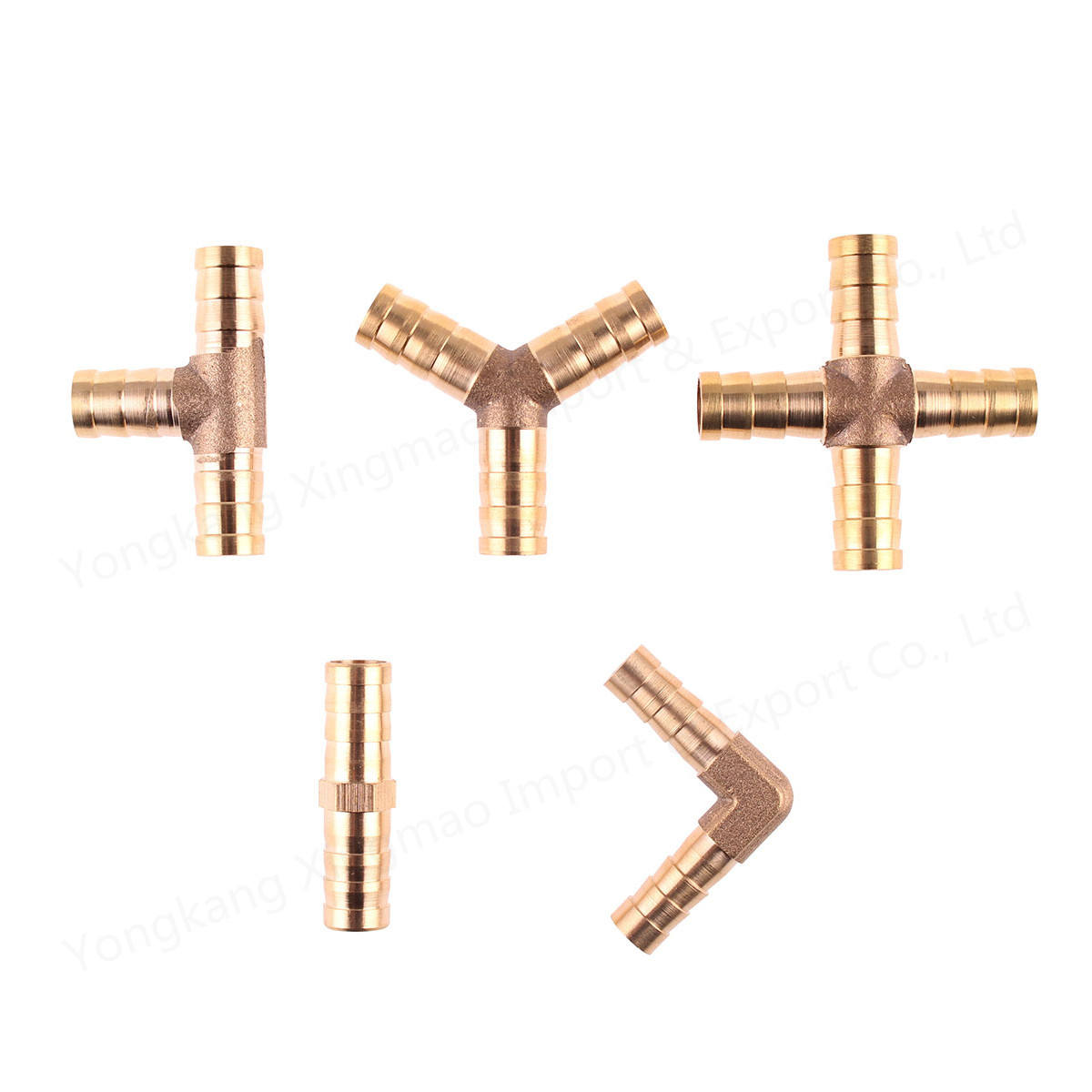 T X Y U Type Tube Barb 4mm 6mm 8mm 10mm 12mm Copper Barbed Connector Joint Coupler Adapter Brass Splicer Pipe Fittings