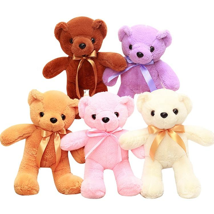 Stuffed 35cm small Teddy bear bed sofa plush baby toys kid