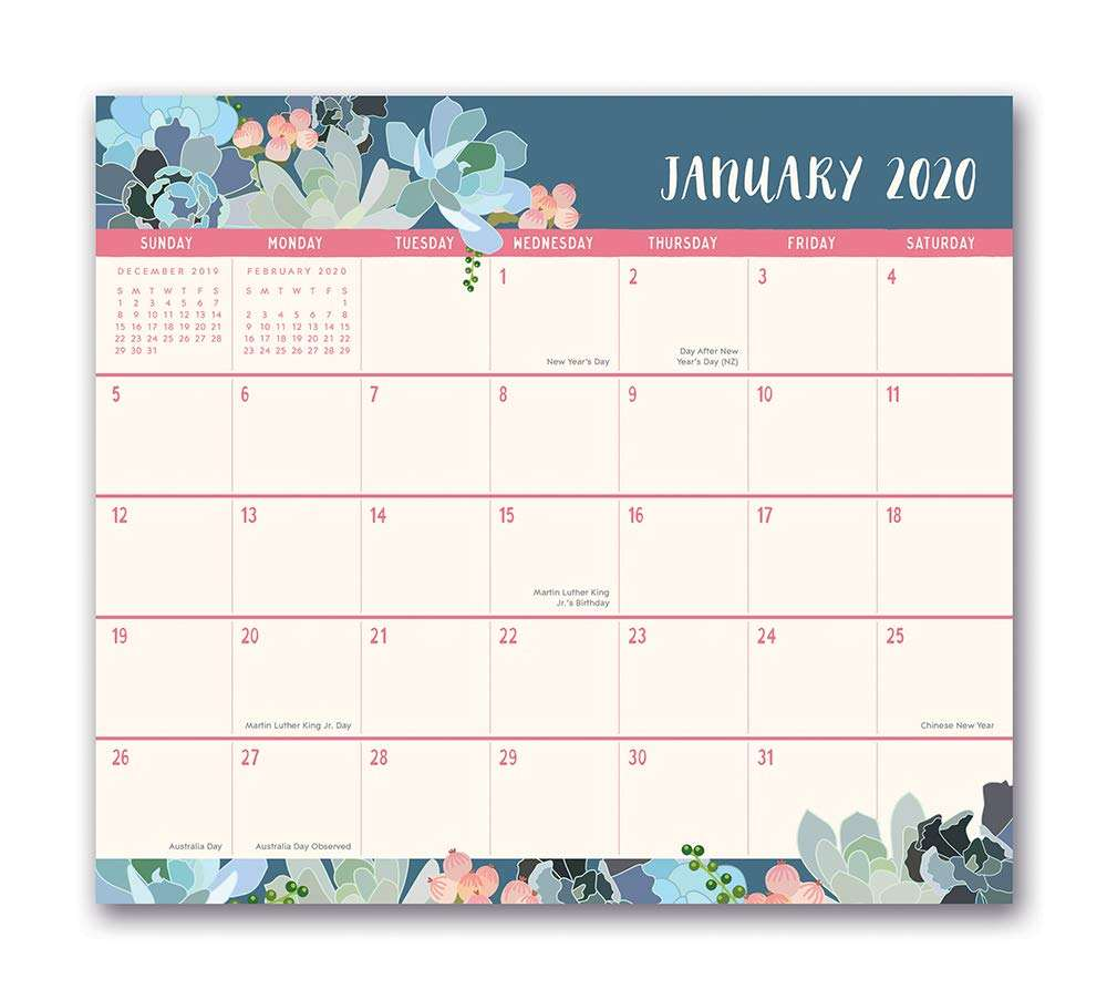Customize 2020 Magnetic Monthly Calendar Pad