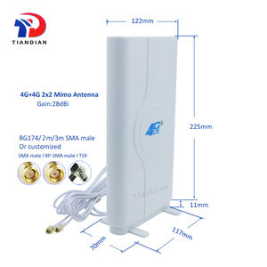 Externe 4G Router Antenne 698-2700Mhz High Gain 28dBi 2x2 Mimo Lte 4G Panel antenne