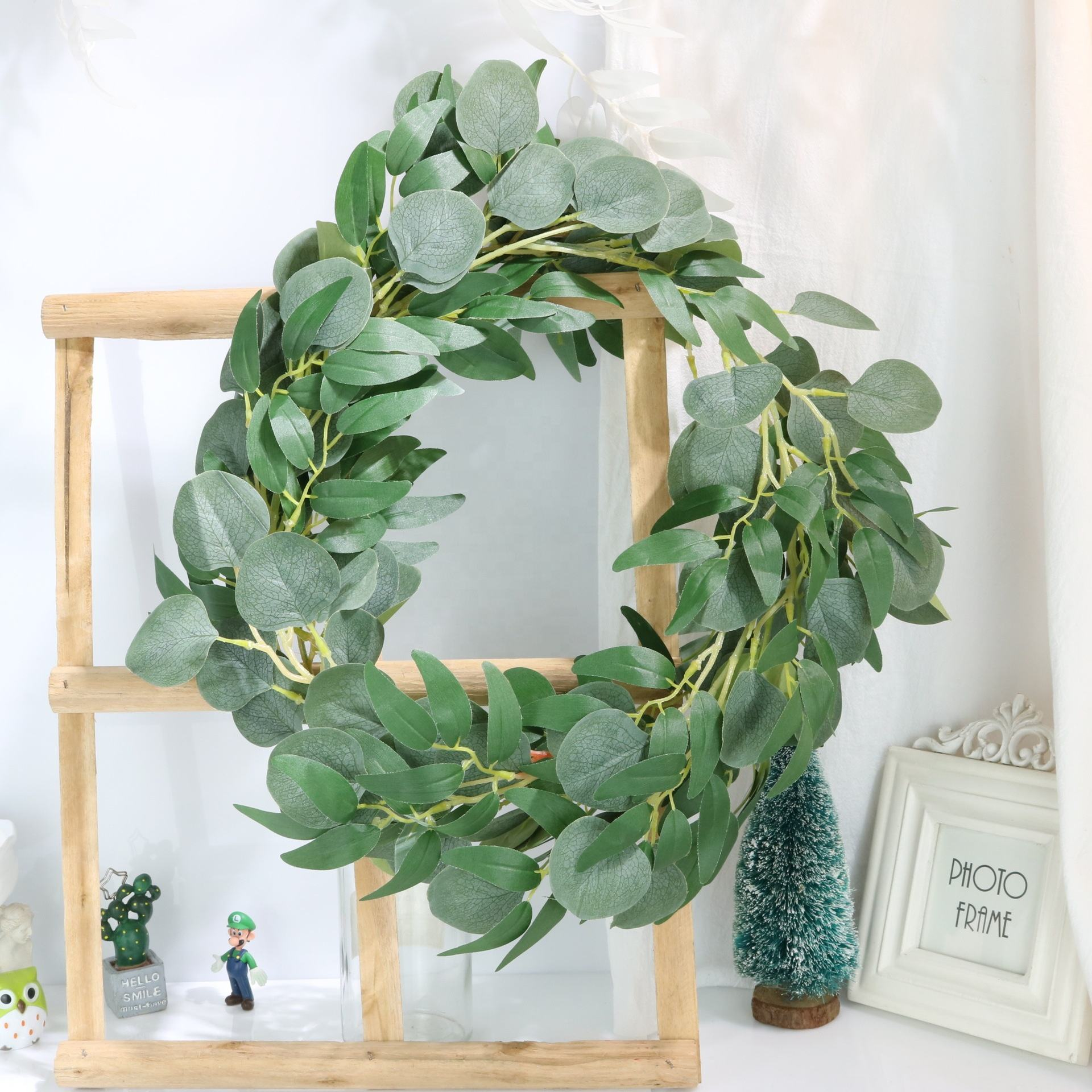 OurWarm 2M 1.7M Artificial Willow葉Eucalyptus Leaves Home Birthday Party Wedding DecorでBulk