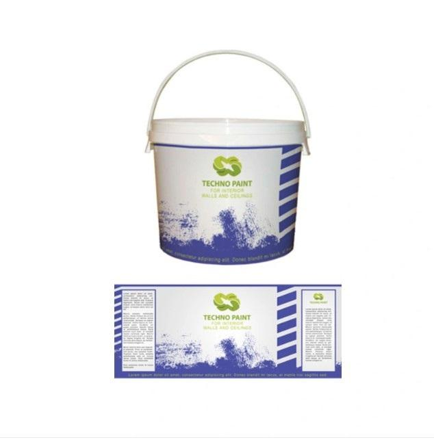 Custom Adhesive Design Paint Bucket Label Sticker