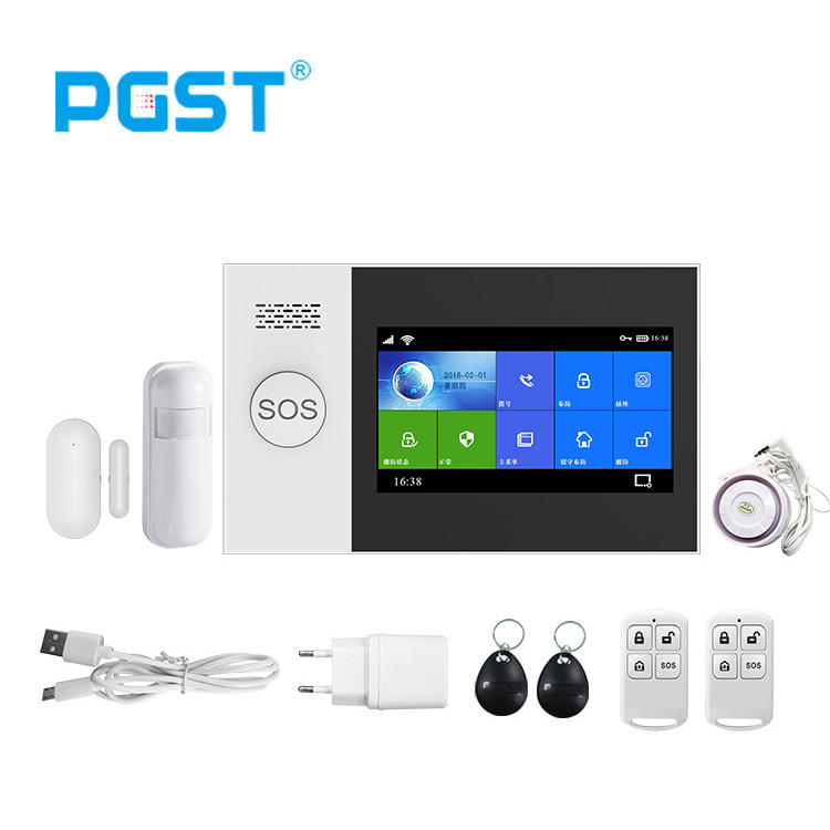 Pgst Tuya App Android Ios Controle Wifi Gsm Alarmsysteem Kit Wireless Home Inbreker Apparaten
