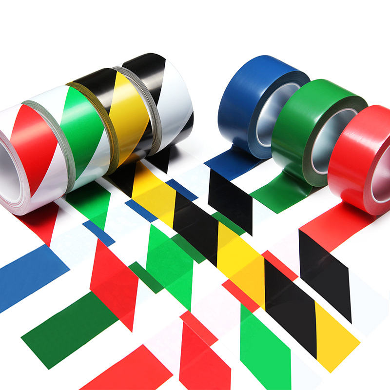 Mileqi detectable red and white green white yellow black pvc reflective barricade caution warn hazard safety warning tape