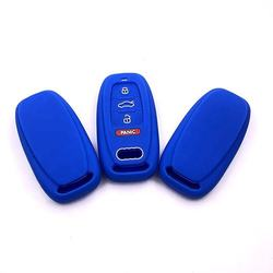 Factory  Price Soft Smart Silicone Car Key Logo Case For Audi A6L Q5 A5 A7 A8 A4L S5 S6