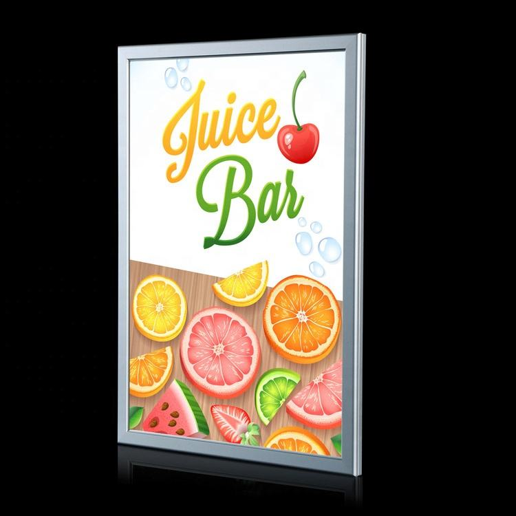 New custom size aluminum frame cinema led advertising light box with poster