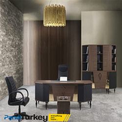 Diamond DESK SET modern office furniture luxury by Panel Turkey