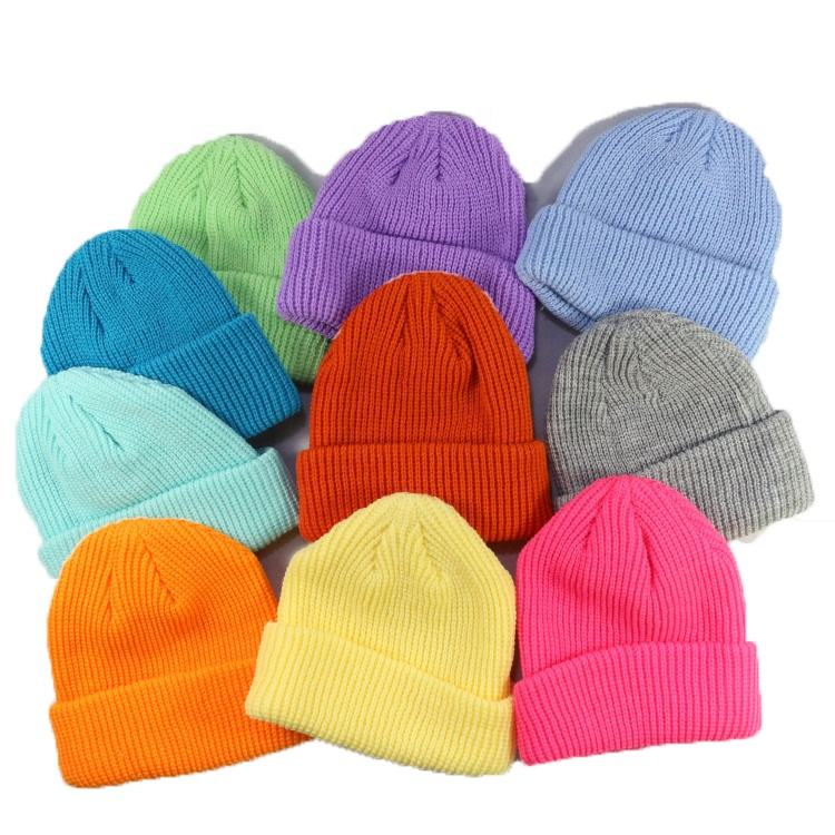 HZM-18510 Soft Warm Knitted Baby Hats Caps Cute Cozy Chunky Winter Infant Toddler Baby Beanies for Boys Girls