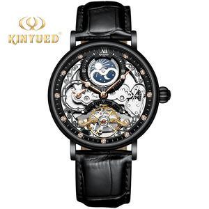 KINYUED New design mechanical watch Tourbillon mechanical movement custom logo
