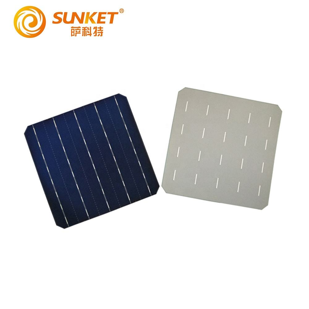 "High Quality 156x117mm 6"" Poly mono Crystalline Solar Cell With Blue Solar Cells"