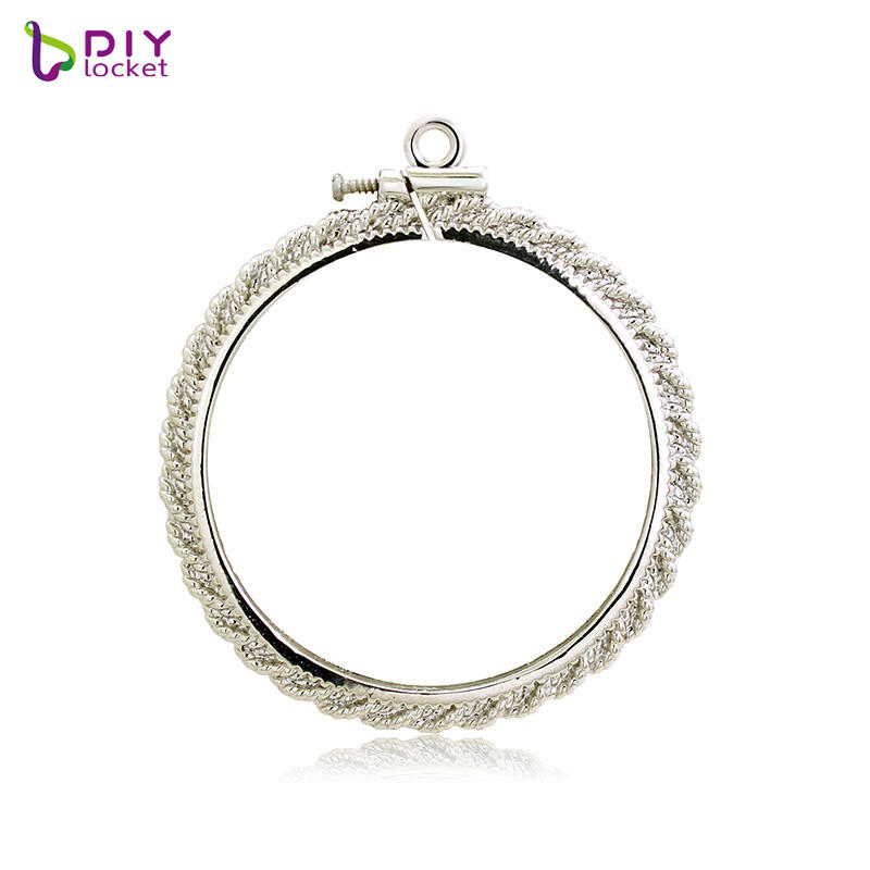 Wholesale Screw Top Coin Bezel, Custom Coin Bezel Pendant Coin Holder Jewelry