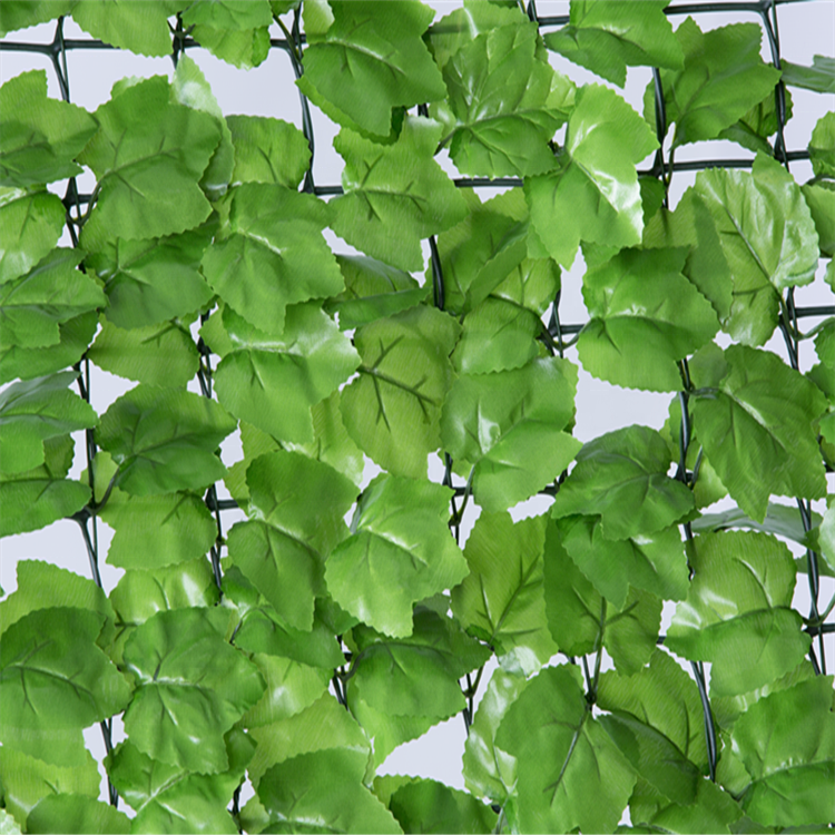 UV Artificial Leaf Fence For Covering Garden Wall Decoration
